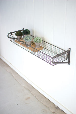 Wire Basket Industrial Modern Wall Shelf