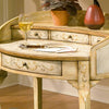 Curved French Victorian Ladies Writing Table Desk