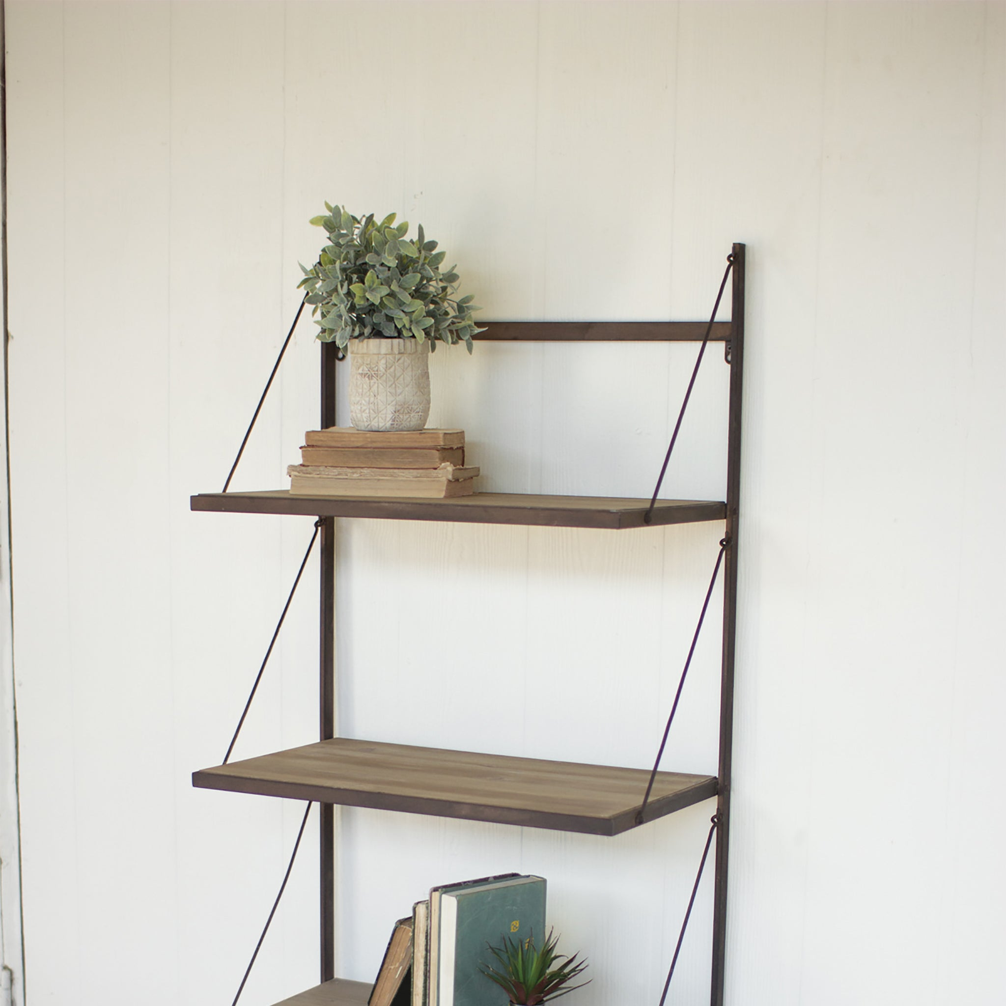 Industrial modern cage wall cubbies and top shelf woodwaves industrial modern rustic wall shelf amipublicfo Image collections