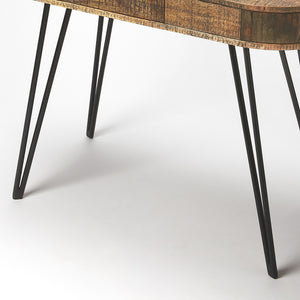 Rustic Curved Industrial Modern Desk