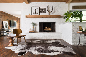 Black & White Cowhide Rug