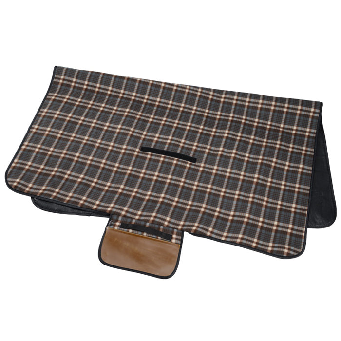 Woodwaves Plaid Outdoor Picnic Blanket