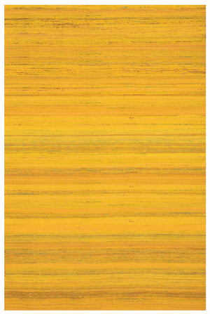 Yellow Flat Weave Handcrafted Wool Indian Rug