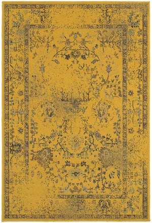 Yellow Overdyed Persian Style Rug