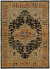 Yellow and Black Modern Global Pattern Rug