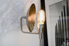 Marble and Nickel Edison Reflector Table Lamp