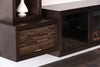 Hanging Fireplace TV Stand - ECO GEO Espresso
