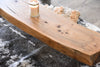 Natural Modern Live Edge Slab Coffee Table