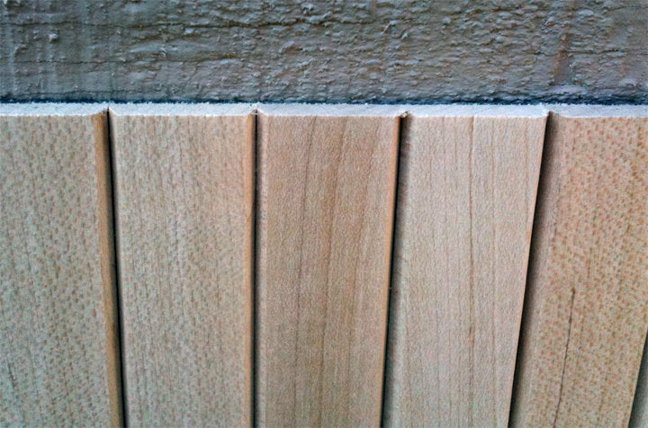 Thin Flat Tambour (Maple) - For Appliance Garage