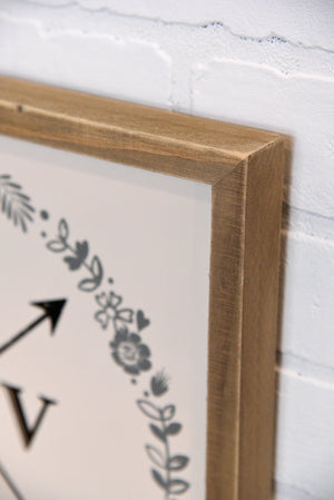 Love Arrows Framed Rustic Wall Art