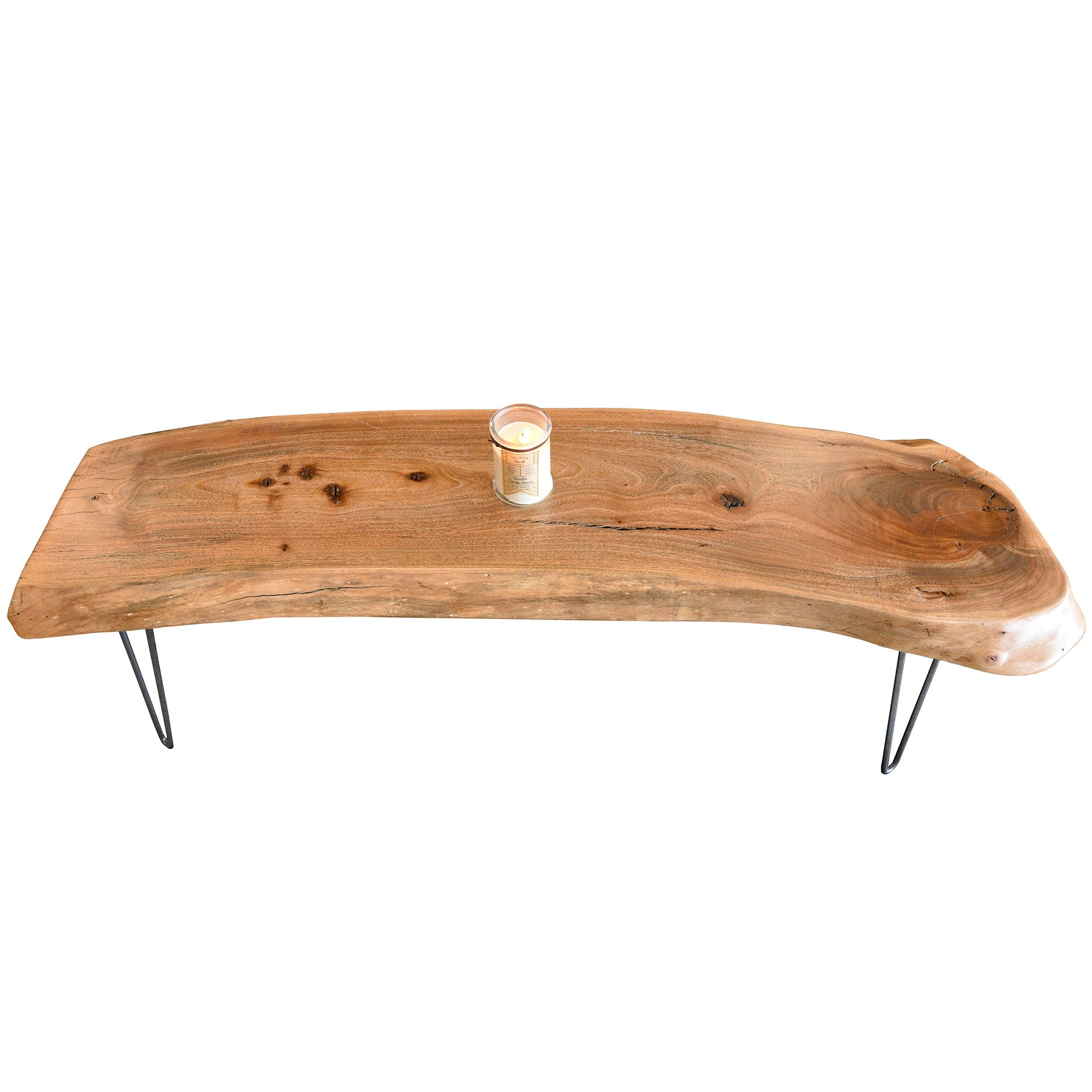 Natural Modern Live Edge Slab Coffee Table Woodwaves