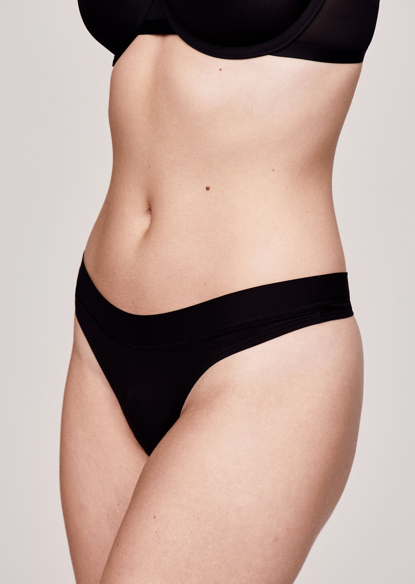 The Thong - Modal, Black