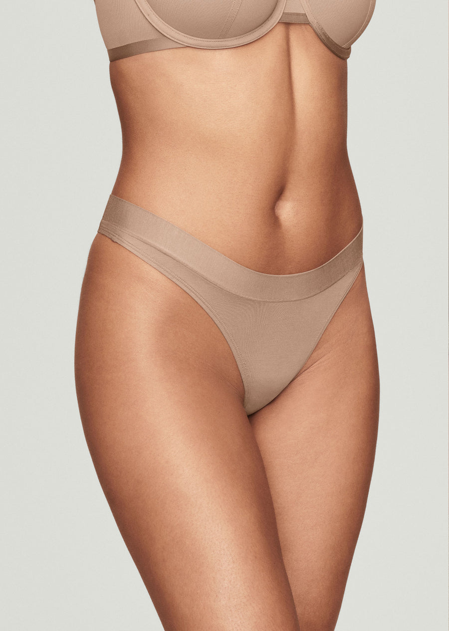The Thong - Modal, Taupe