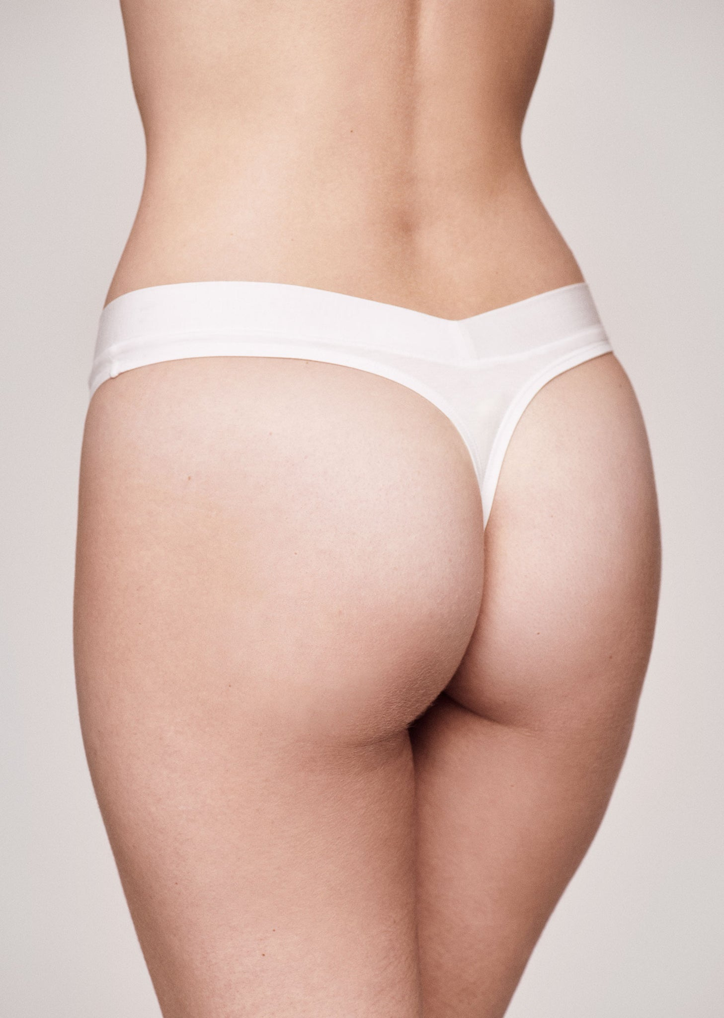 The Thong - Modal, White