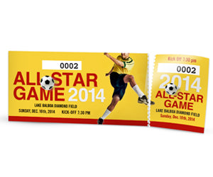Event Tickets  with Perforation