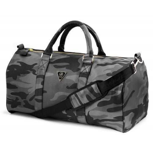 Camo Leather Duffle Bag