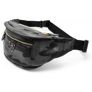 Camo Leather Fanny Pack