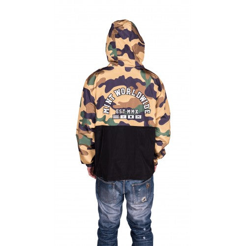 Tan Camo Windbreaker
