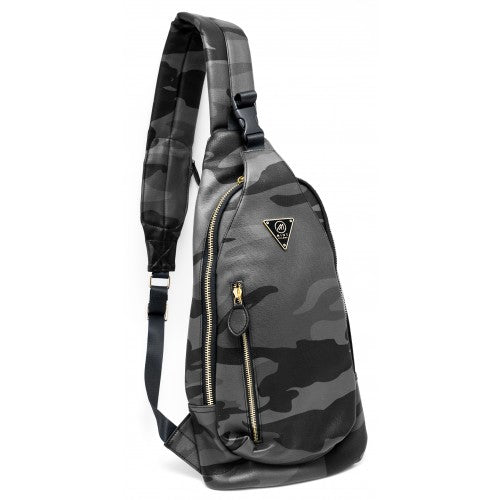 Camo Leather Crossbody Sling