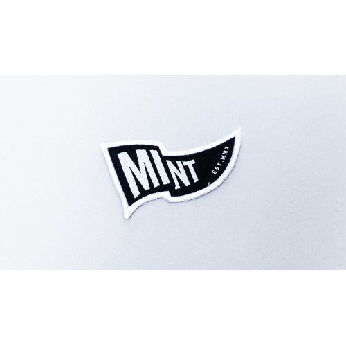 Mint Waving Flag Iron On Patch