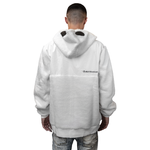 3M Reflective Sherpa Hoodie - White