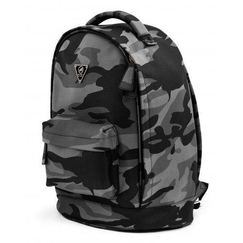 Camo Leather Backpack 43cm