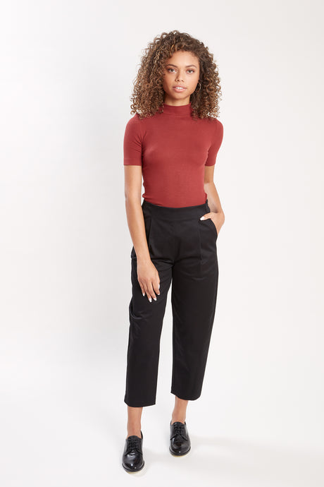 PEGGY - STRETCH COTTON (Black)