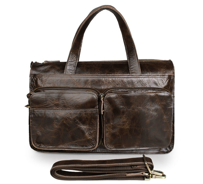 Leather Briefcase Laptop Bag for 13