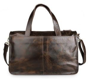 "Leather Briefcase Laptop Bag for 13"" MacBook"