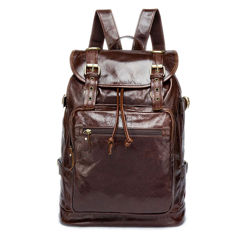 Leather Men's Backpack Travel Bag Satchel Backpack Outdoor Bag Rucksack Black|Brown|Grey