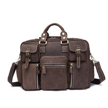Vintage Look Men's Messenger Bag for Work or Laptop Weekend Bag Red|Brown|Black