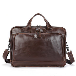 Leather Messenger Bag for Business or Work Laptop Bag Brown Bag for Men