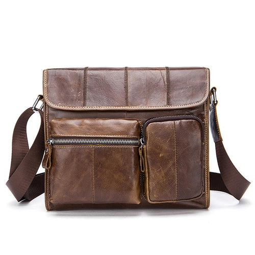 Leather Shoulder Bag for Men Messenger Bag