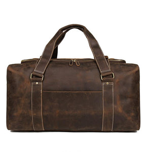 Giant Leather Travel Bag Hold all Weekender for Men Brown