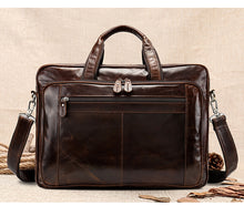 Men's 15 Inches Laptop Bag Briefcase Retro Handbag Crossbody Shoulder Business Messenger Bag