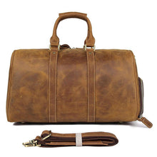 Leather Duffle Bag for Men 17 Inch Laptop also for Travel and Sports