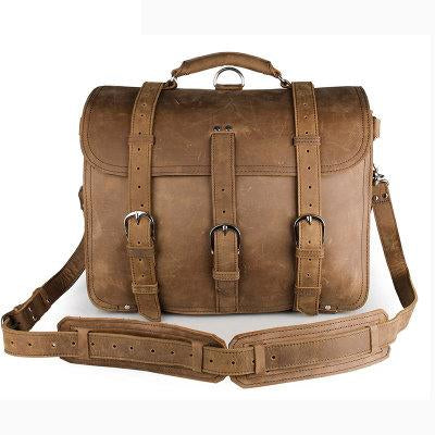 Large Leather Messenger Bag for Men Laptop Bag for 17