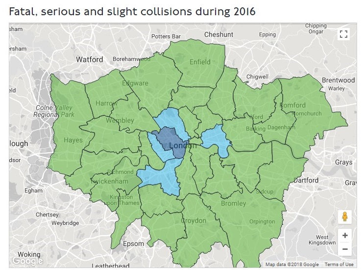 What Is The Current Trend In Private Hire and Taxi Collisions in London?
