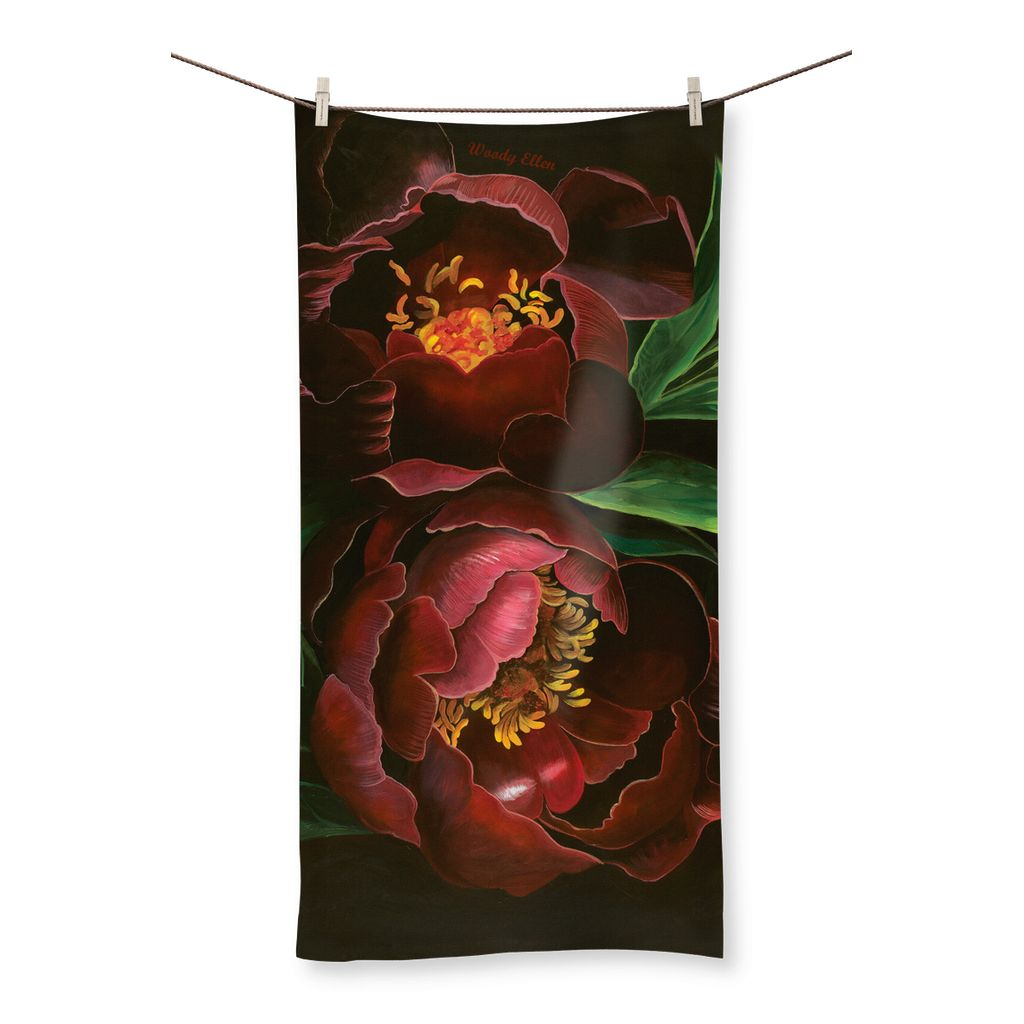 Night Bloom design Beach Towel