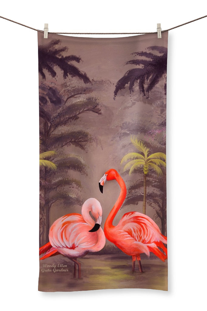 Flamingo design Towel