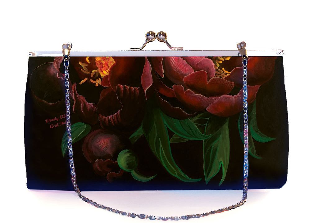 Retro clutch large, Night Bloom, Acid Doll