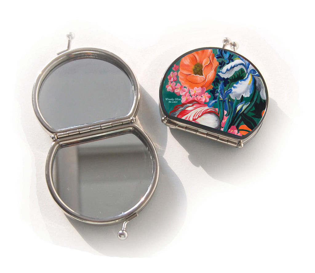 Retro compact mirror, Forest