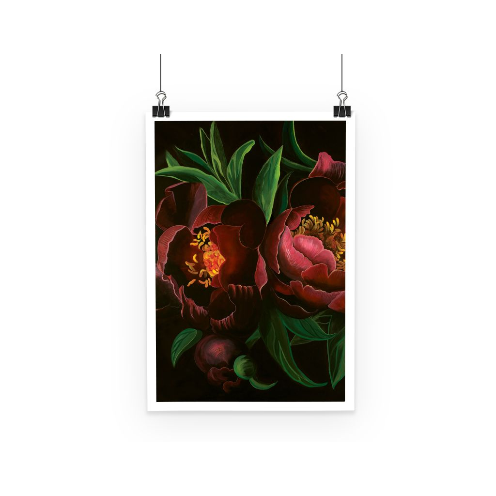 Night Bloom design Poster