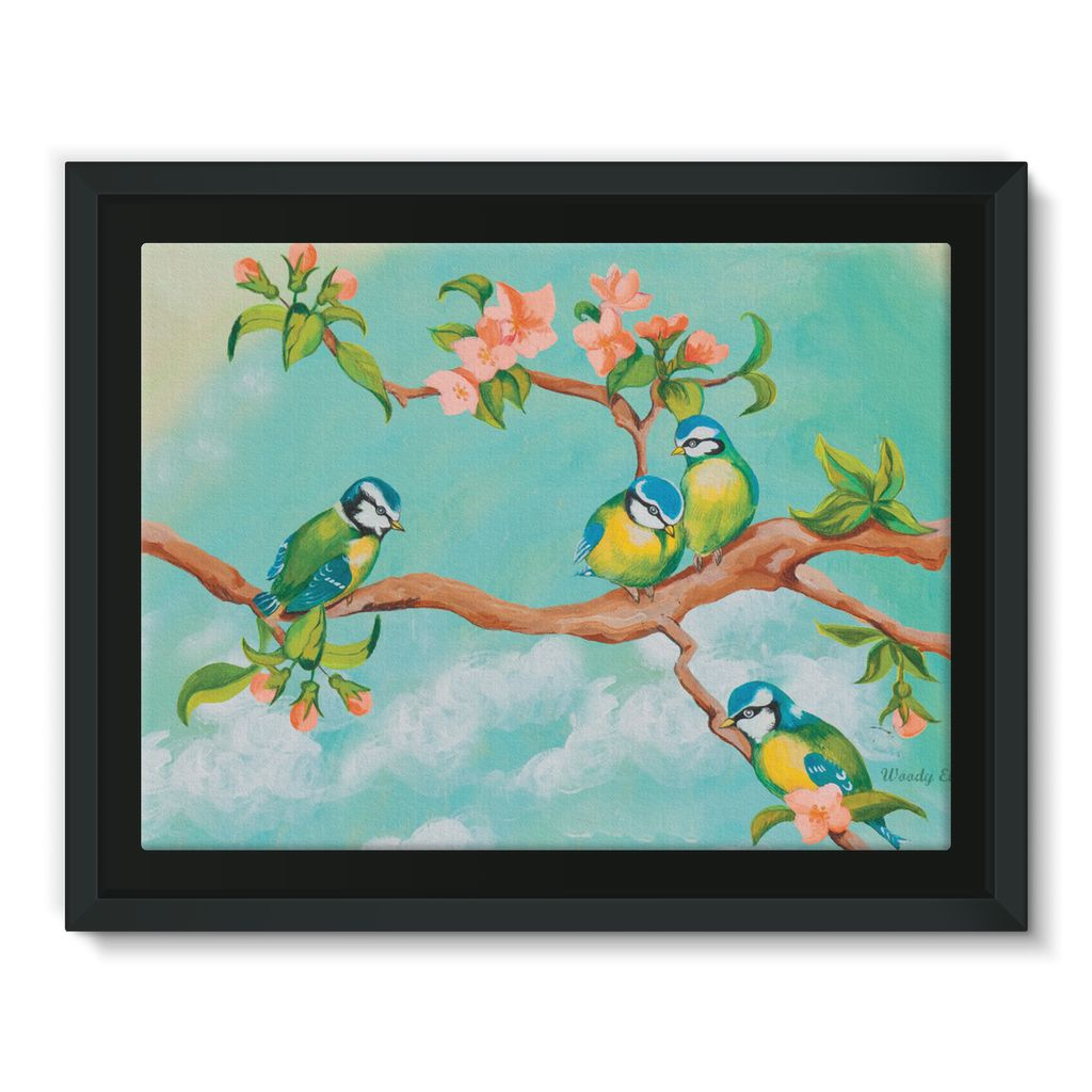 Birdgirl Design Framed Canvas