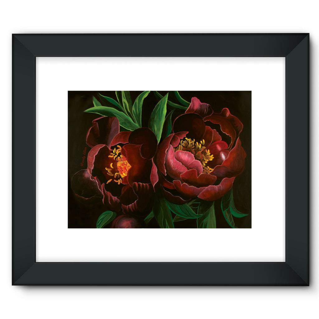 Night Bloom design Framed Fine Art Print