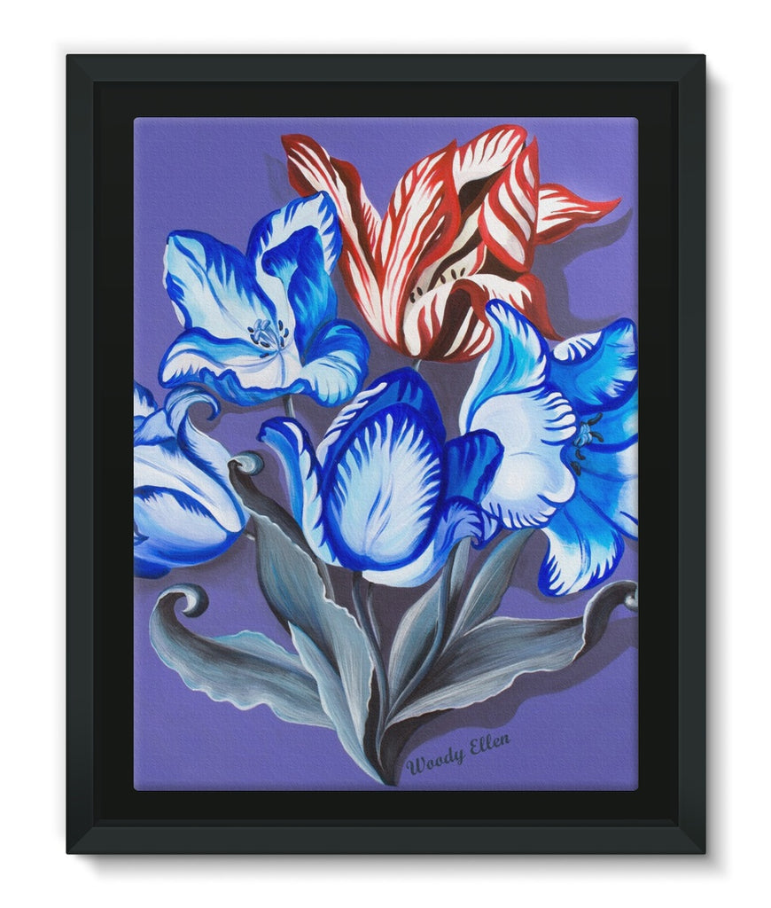 Porcelain Design Framed Canvas