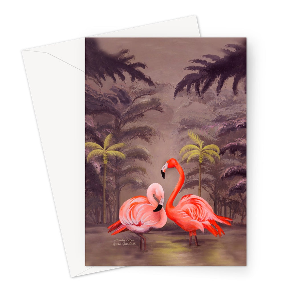 Flamingo design Greeting Card