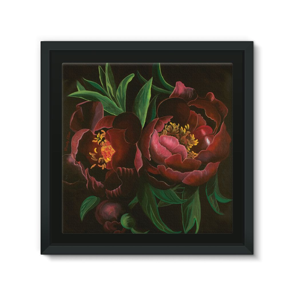 Night Bloom design Framed Canvas