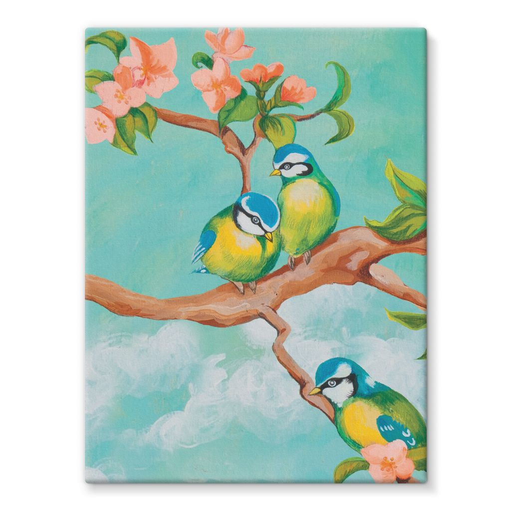 Birdgirl Design Stretched Canvas