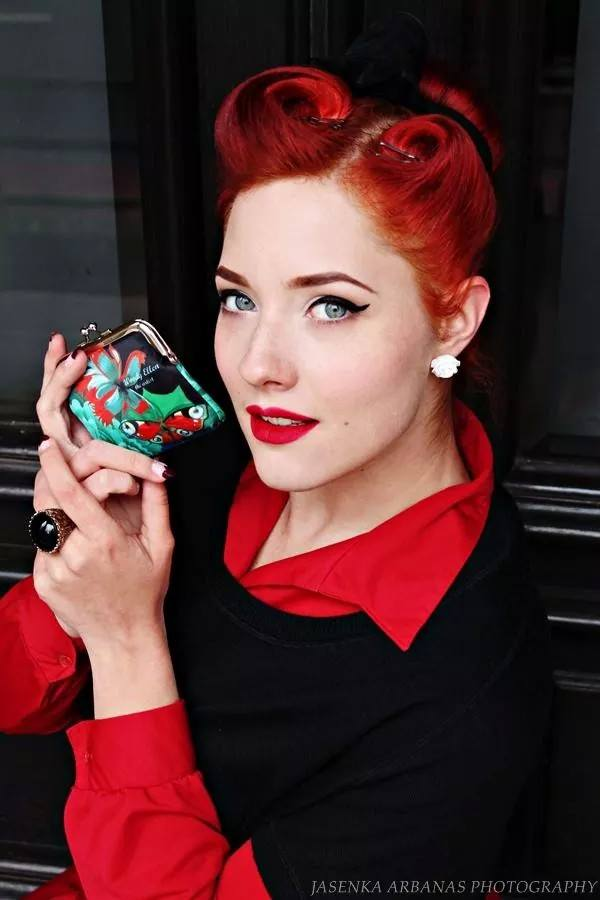 Coin purse, retro purse, Burlesque